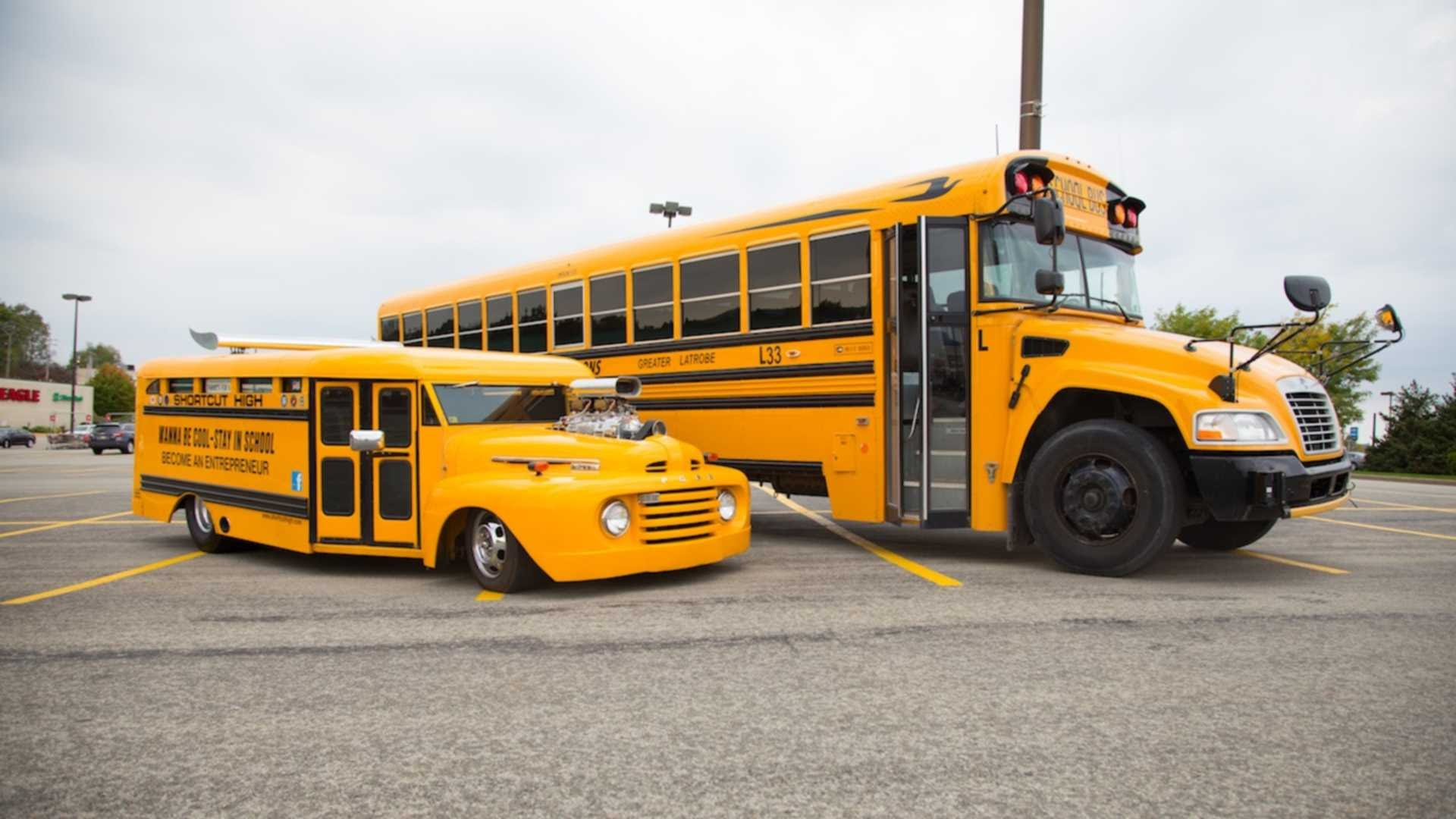 49 Ford School Bus Hot Rod Is Built To